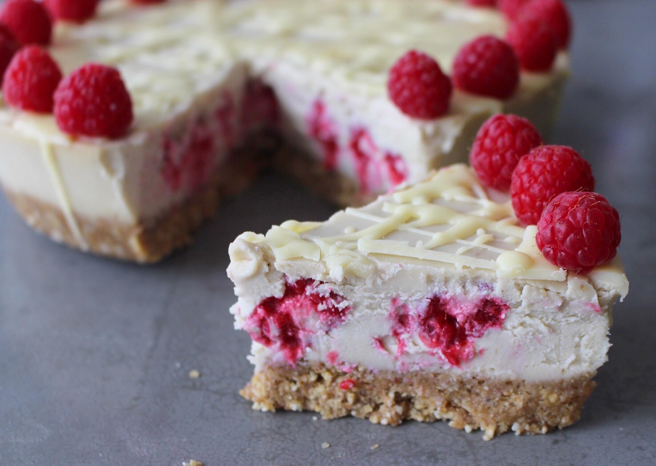 White chocolate and raspberry cheesecake |