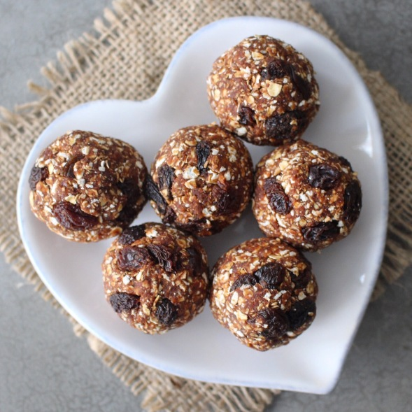 Nut free no bake chocolate granola balls